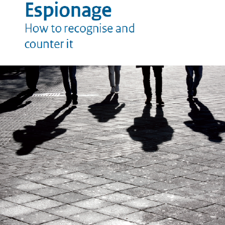 Cover AIVD publication Espionage