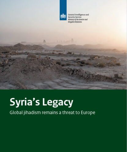 Cover of publication: Legacy of Syria - Global jihadism remains a threat to Europe